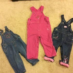 Girls overalls lot